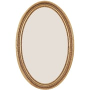 Vanity Collection Wall Mirror, Antique Gold, 34 x 22