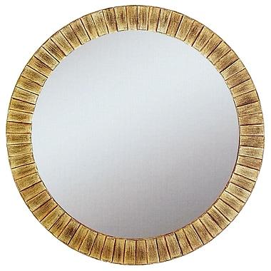 Round Lyone Wall Mirror, Gold, 34in.