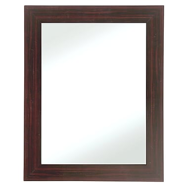 28in. x 34in. Beveled New England Wall Mirror, Walnut