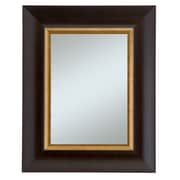 44 x 32 Manford Wall Mirror, Dark Walnut/Gold