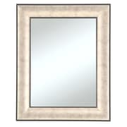 Beveled Silvertone Wall Mirror, Silver/Black, 35 x 29