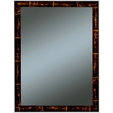 Beveled Oriana Family Wall Mirror, Brown/Gold, 33in. x 27in.