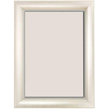 Beveled Sandwood Molding Wall Mirror, Silver, 35in. x 29in.