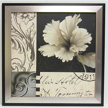 Soft Canvas Floral I Wall Art, Silver/Black, 23 3/4