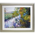 Premier River Ripple Wall Art, Silver, 34in. x 43 1/2in.