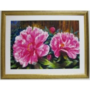 Premier Blooming Peony Wall Art, Gold, 34 x 43 1/2