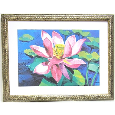 Premier Water Lilly II Wall Art, Silver, 30 1/2in. x 39 1/2in.