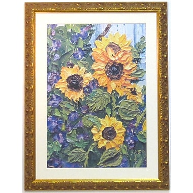 38in. x 29in. Premier Sunflowers Wall Art, Gold