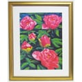 Premier Blooming Peony II Wall Art, Gold, 34in. x 43 1/2in.