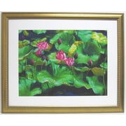 "31 1/2"" x 38 1/2"" Premier Lotus Wall Art, Gold"
