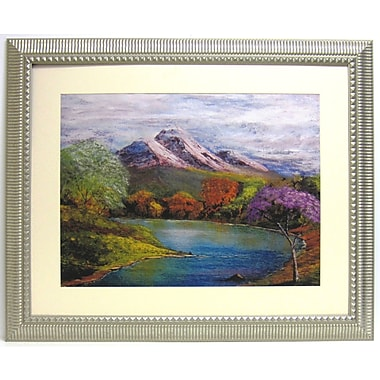 32 1/2in. x 39in. Premier River Bend Wall Art, Silver