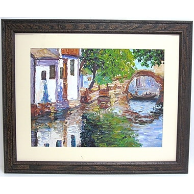 32in. x 38 1/2in. Premier Gondona Bridge Wall Art, Brown