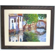 "32"" x 38 1/2"" Premier Gondona Bridge Wall Art, Brown"