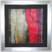 """Premier Red Abstract Wall Art, Silver, 34"""" x 34"""""""