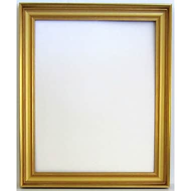 41 3/4in. x 29 3/4in. Beveled Brilliant Collection Frame Wall Mirror, Gold