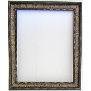 42 1/4in. x 30 1/4in. Beveled Arc Collection Frame Wall Mirror, Gold/Walnut