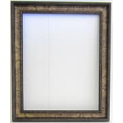 42 1/4 x 30 1/4 Beveled Arc Collection Frame Wall Mirror, Gold/Walnut