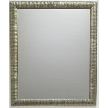 Radiant Collection Wall Mirror, Silver, 40 1/4in. x 28 1/4in.