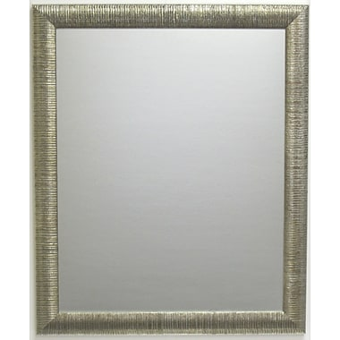 Beveled Radiant Collection Wall Mirror, Silver, 40 1/4