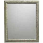 Beveled Radiant Collection Wall Mirror, Silver, 40 1/4 x 28 1/4