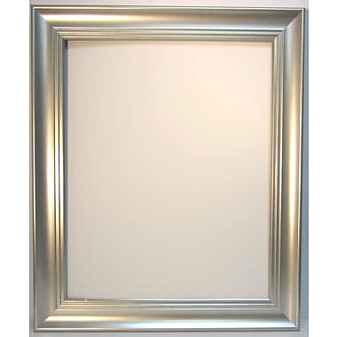 42 1/4in. x 30 1/4in. Waterfall Collection Wall Mirror, Silver