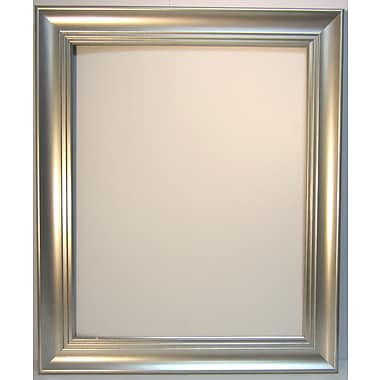 42 1/4in. x 30 1/4in. Beveled Waterfall Collection Wall Mirror, Silver