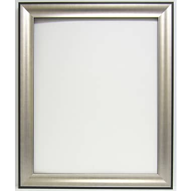 41in. x 29in. Beveled Promenade Wall Mirror, Black/Silver