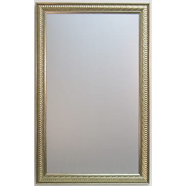 Wave Collection Wall Mirror, Silver, 40 1/4in. x 28 1/4in.
