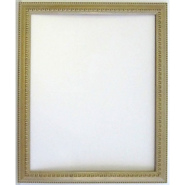41in. x 29in. Beveled Palace Collection Antiqued Wall Mirror, White/Gold