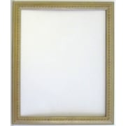41 x 29 Palace Collection Antiqued Wall Mirror, White/Gold