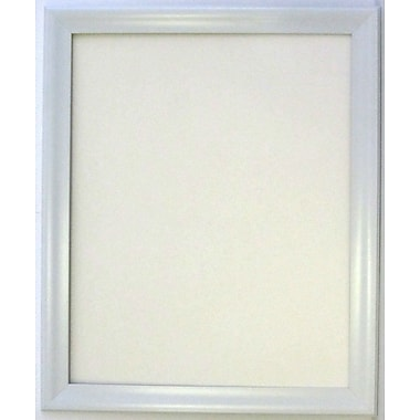 Beveled Lakeside Collection Frame Wall Mirror, White, 40 1/4in. x 28 1/4in.