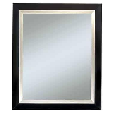 29in.x35in. Beveled Carson Wall Mirror, Black/Silver