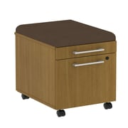 Bush Business 300 Series Mobile Pedestal with Cushion Kit, Modern Cherry/Cocoa, Installed