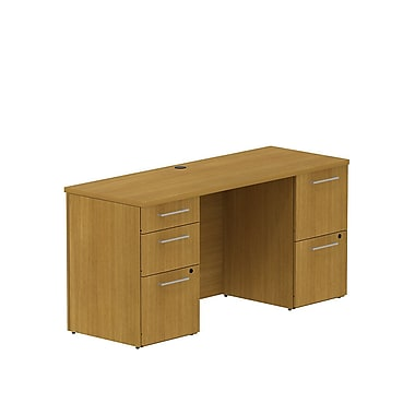 Bush 300 Series Double Pedestal Credenza Desk, 59.6