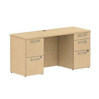 Bush 300 Series Double Pedestal Credenza, 29.1