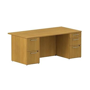 Bush 300 Series Double Pedestal Desk, 71.1