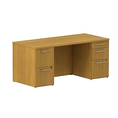Bush 300 Series Double Pedestal Desk, 65.6