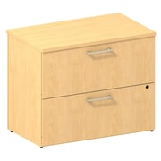 Bush Business 300 Series 36W 2-Drawer Lateral File, Natural Maple, Installed