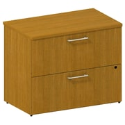 Bush Business 300 Series 36W 2-Drawer Lateral File, Modern Cherry, Installed