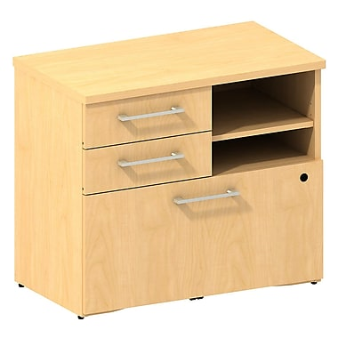 Bush 300 Series 30in.W Lower Piler / Filer Cabinet, Natural Maple