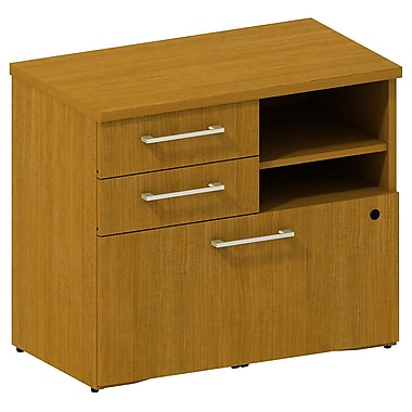 Bush 300 Series 30in.W Lower Piler / Filer Cabinet, Modern Cherry