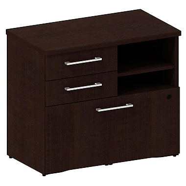 Bush Business 300 Series 30W Piler Filer Cabinet, Mocha Cherry