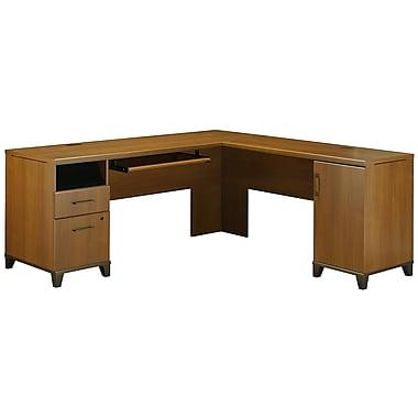 Bush Achieve L Desk, Warm Oak
