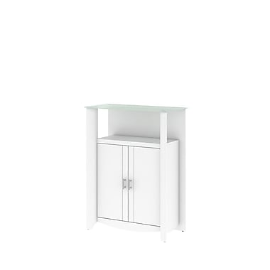 Bush Aero 2-Door Medium Library Storage, Pure White