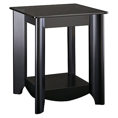 Bush Furniture Aero End Tables, Classic Black (MY16922-03)