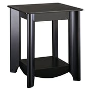 Bush Furniture Aero End Table, Classic Black