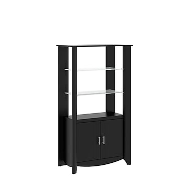 Bush Aero 2-Door Tall Library Storage, Classic Black
