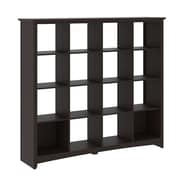 Bush Furniture Buena Vista 16-Cube Storage, Madison Cherry