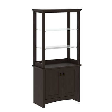 Bush Furniture Buena Vista 2 Door Tall Library Storage, Madison Cherry (MY13892-03)
