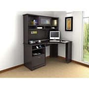 "Bush Furniture Cabot 66.46"" x 59.45"" x 35.71"" Corner Desk with Hutch, Espresso Oak (CAB008EPO)"